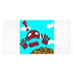 Monstruo de la galleta tarjeta fotografica personalizada
