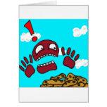 Monstruo de la galleta tarjetas
