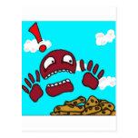 Monstruo de la galleta tarjetas postales