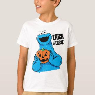 Monstruo de la galleta - truco o invitación camiseta