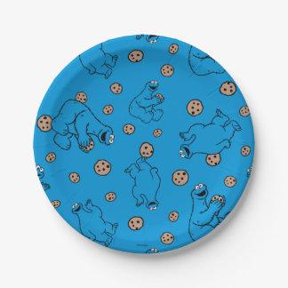 Monstruo de la galleta y modelo del azul de las plato de papel