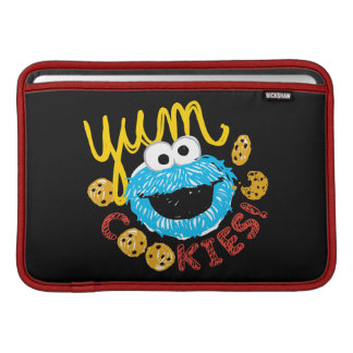 Monstruo de la galleta Yum Funda Para MacBook
