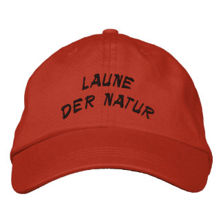 monstruo de la naturaleza en alemán gorra de beisbol bordada