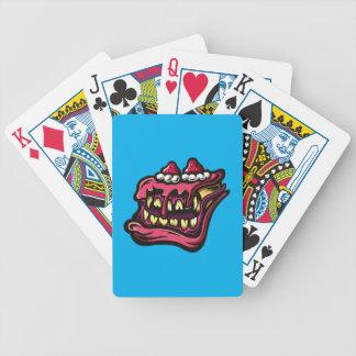 Monstruo de la torta barajas de cartas