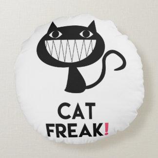 ¡Monstruo del gato! Almohada de tiro redonda de la