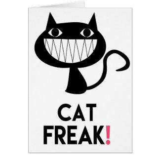 ¡Monstruo del gato! Tarjeta de felicitación de la
