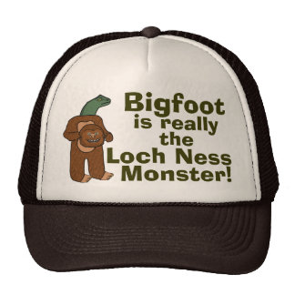 Monstruo divertido de Bigfoot Loch Ness Gorros