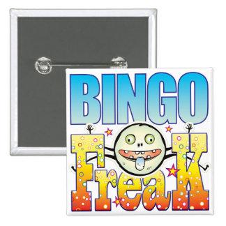Monstruo extraño del bingo chapa cuadrada 5 cm