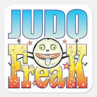 Monstruo extraño del judo pegatina cuadrada