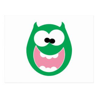 Monstruo feliz postal