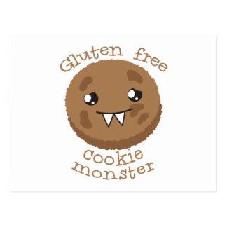 Monstruo libre de la galleta del gluten tarjetas postales