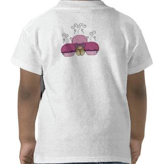 Monstruo lindo con rosa y las magdalenas heladas p camiseta