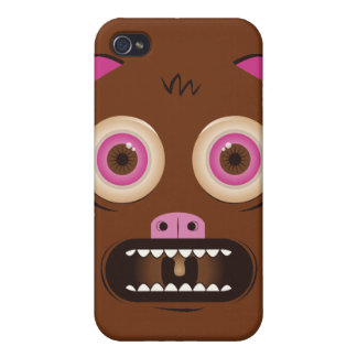 Monstruo loco divertido iPhone 4 protectores