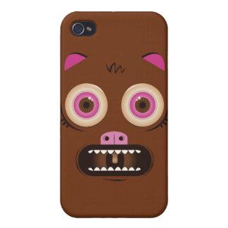 Monstruo loco divertido iPhone 4 carcasas