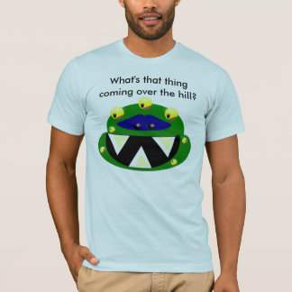 ¿monstruo, qué esa cosa está viniendo sobre la camiseta