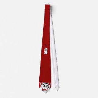 Monstruo rojo del dibujo animado corbatas personalizadas