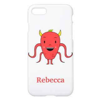 Monstruo rojo lindo funda para iPhone 7