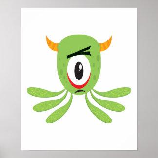 monstruo tonto de los cyclops póster