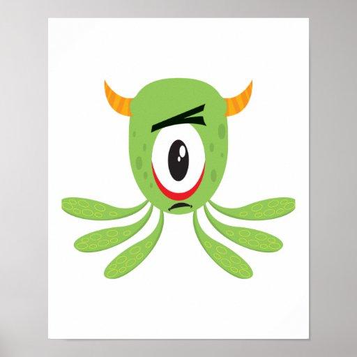 monstruo tonto de los cyclops posters