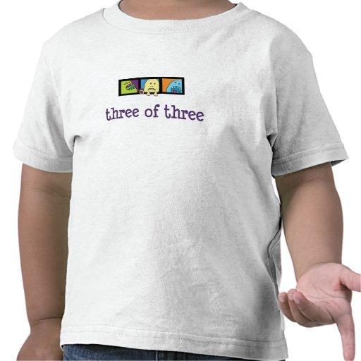 Monstruo tres del trío de la camiseta tres