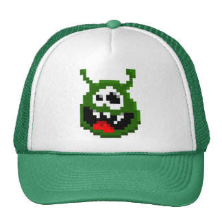 Monstruo verde - arte del pixel gorras