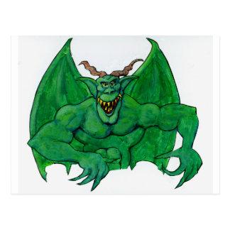 Monstruo verde postal