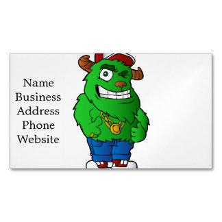 monstruo verde tarjetas de visita magnéticas