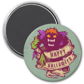 Monstruo y cinta vieja para Halloween Imán Redondo 7 Cm