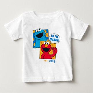 Monstruo y Elmo de la galleta el | ha ha sí Camiseta De Bebé
