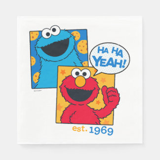 Monstruo y Elmo de la galleta el | ha ha sí Servilleta De Papel