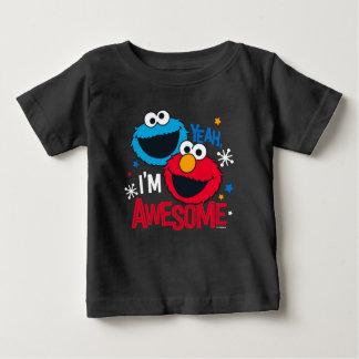 Monstruo y Elmo de la galleta el | sí, soy Camiseta De Bebé