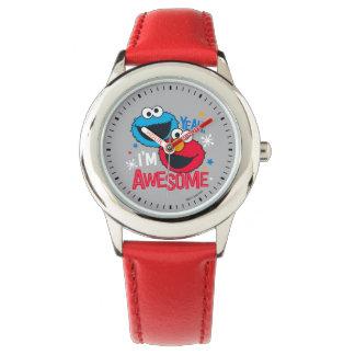 Monstruo y Elmo de la galleta el   sí, soy Reloj De Pulsera