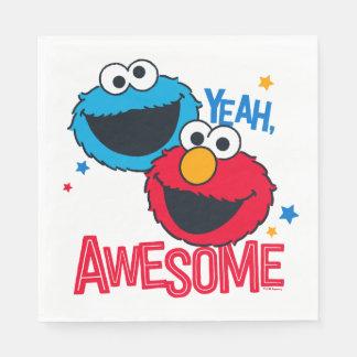 Monstruo y Elmo de la galleta el | sí, soy Servilleta De Papel