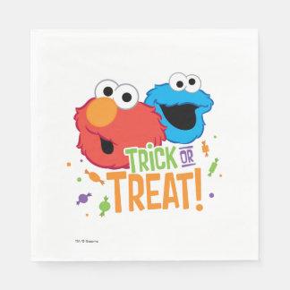 Monstruo y Elmo de la galleta - truco o invitación Servilleta De Papel