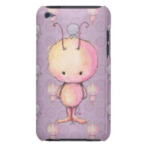 Monstruos borrosos mullidos lindos barely there iPod carcasa