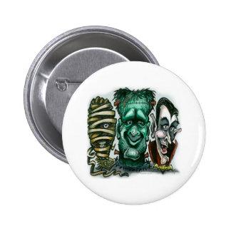 Monstruos de la película chapa redonda 5 cm