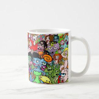 Monstruos del acto secundario taza de café