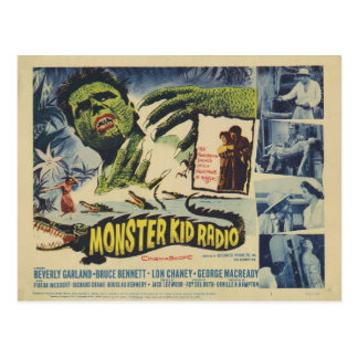 Monstruos del cocodrilo de la postal de la radio
