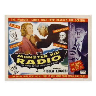 Monstruos del vampiro de la postal de la radio del