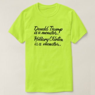 Monstruos presidenciales camiseta