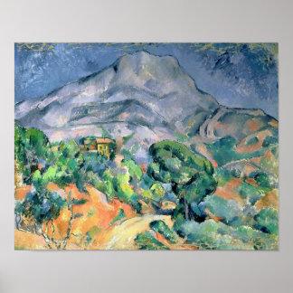 Mont Sainte-Victoire, 1900 Póster