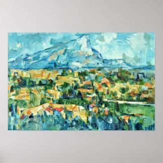 Mont Sainte-Victoire de Paul Cézanne (la mejor cal Póster