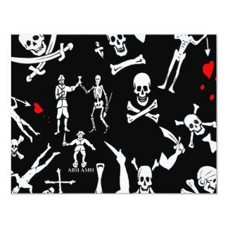 Montaje #1 del pirata invitación 10,8 x 13,9 cm