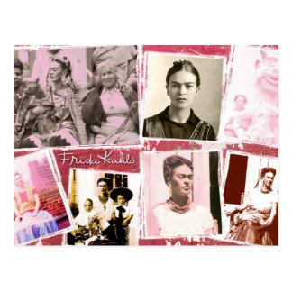 Montaje de la foto de Frida Kahlo Postal