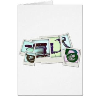 montaje de la foto del lambretta tarjeta de felicitación