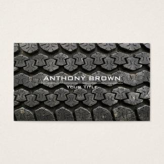 Montaje del neumático y tarjeta de visita de