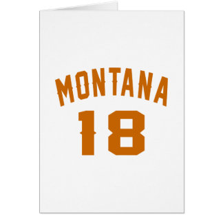 Montana 18 diseños del cumpleaños tarjeta