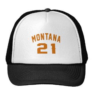 Montana 21 diseños del cumpleaños gorros bordados