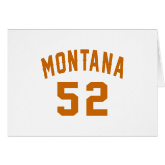 Montana 52 diseños del cumpleaños tarjeta