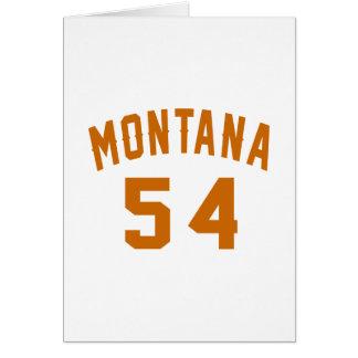 Montana 54 diseños del cumpleaños tarjeta